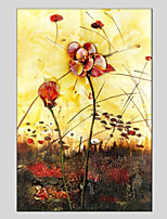 Pintados à mão Floral/Botânico Modern 1 Painel Tela Pintura a Óleo For Decoração para casa