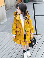 Girls' Solid Jacket & Coat,Cotton Long Sleeves