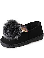 cheap -Women's Shoes Leatherette Rubber Fall Pom-pom Shoes Comfort Flats For Casual Green Purple Black