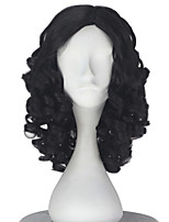 cheap -Synthetic Girl Short Curly Dark Brown Color Wig Role play movie Cosplay Costume Wigs Adult Halloween hair
