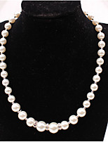 Women's Strands Necklaces Imitation Pearl Rhinestone Luxury Elegant Jewelry For Wedding Party