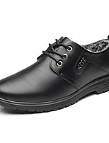 Men's Shoes Cowhide Winter Comfort Oxfords For Office & Career Brown Black