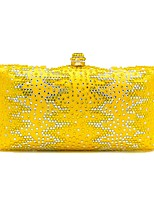 Women Bags Polyester Evening Bag Crystal Detailing for Wedding Event/Party All Season Blue Green Yellow