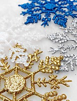 12Pcs/Bag Christmas Tree Window Decoration Artificial Snowflake For Christmas Party Ornaments