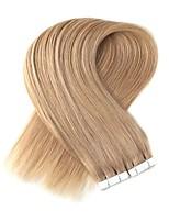 billige -Tape-in Menneskehår Extensions 20pcs / Pack 2,2 g / pc Platin Blond Jordbær Blond / Afbleget Blond Beige Blond // Afbleget Blond Ash