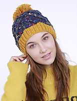 cheap -Women's Acrylic Roman Knit Floppy HatVintage Cute Casual Floral Winter Braided Yellow Navy Blue Beige Orange