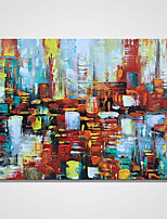 Hand-Painted Abstract Horizontal,Comtemporary One Panel Canvas Oil Painting For Home Decoration