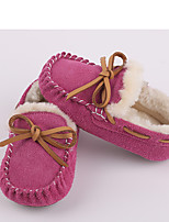 cheap -Girls' Shoes Suede Fleece Winter Fluff Lining Comfort Loafers & Slip-Ons For Casual Outdoor Khaki Pink Gray Black