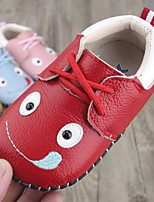 cheap -Girls' Shoes Real Leather Winter Fall First Walkers Sneakers for Casual White Yellow Red Blue Pink