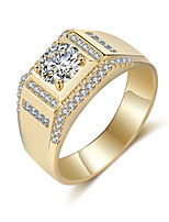 Men's Band Rings Rhinestone Vintage Elegant Titanium Circle Jewelry For Wedding Party