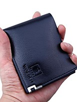 cheap -Men Bags PU Wallet Buttons for Casual All Season Black Coffee Dark Brown