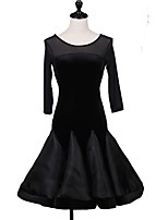 Shall We Latin Dance Dresses Women's Performance Spandex 3/4 Length Sleeve Dress