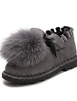 cheap -Girls' Shoes Nubuck leather Fall Winter Comfort Loafers & Slip-Ons For Casual Green Red Gray Black