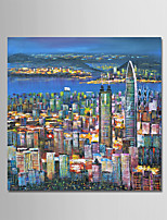 Hand-Painted Still Life Square,Modern One Panel Canvas Oil Painting For Home Decoration