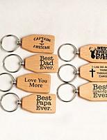 cheap -Classic Theme Keychain Favors Wooden Practical Favors Keychain-Piece/Set