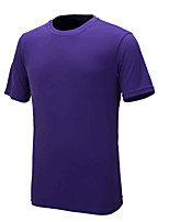 cheap -Men's Running T-Shirt Short Sleeve Quick Dry UV resistant T-shirt for Polyster Slim Purple Yellow Dark Grey Sky Blue Green M L XL XXL XXXL