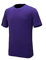 Homens Camiseta de Corrida Manga Curta Secagem Rápida Resistente aos raios UV Camiseta para Delgado Roxo Amarelo Cinzento Escuro Azul Céu