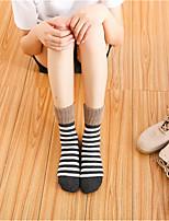 preiswerte -Damen Socken Wolle Zebra Ultra-Warm,2pcs Rote Dunkelgray