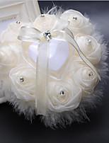 lacets satin anneau de soie oreillers mariage cérémonie mariage thème classique