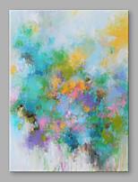 Peint à la main Abstrait Format Vertical,Moderne Un Panneau Toile Peinture à l'huile Hang-peint For Décoration d'intérieur