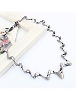 Colliers de ras de cou pour femmes irrégulière alliage mode simple bijoux de style pour la fête quotidienne