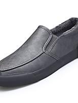 Для мужчин обувь Кожа Весна Осень Удобная обувь Мокасины и Свитер Назначение Повседневные Черный Серый Коричневый Вино