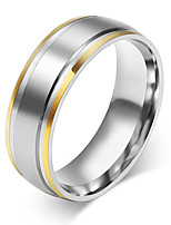 Men's Women's Basic Stainless Steel Circle Jewelry For Wedding Party