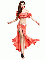 cheap -Shall We Belly Dance Outfits Women's Training Polyester Pleats Sleeveless Dropped Skirts Tops