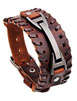 Men's Leather Bracelet Oversized Rock Hiphop Statement Jewelry Dermis Jewelry Jewelry For Daily Casual
