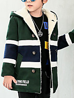 Boys' Color Block Trench Coat Long Sleeves