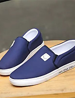 Men's Shoes PU Spring Fall Comfort Loafers & Slip-Ons For Casual Black Gray Blue