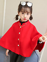 Girls' Solid Suit & Blazer,Polyester Fall Winter Long Sleeves