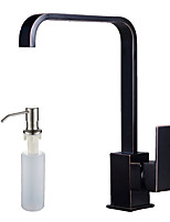 cheap -Art Deco / Retro Tall/­High Arc Centerset Widespread Ceramic Valve Single Handle One Hole Oil-rubbed Bronze , Kitchen faucet