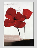 Hand-Painted Floral/Botanical Vertical Panoramic,Others One Panel Canvas Oil Painting For Home Decoration