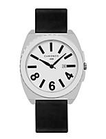 Недорогие -Муж. Модные часы Японский Кварцевый Повседневные часы Натуральная кожа Группа На каждый день Черный Белый