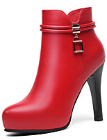 cheap -Women's Shoes Synthetic Winter Fashion Boots Bootie Combat Boots Boots Booties/Ankle Boots For Party & Evening Dress Red Black