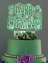Cake Topper Birthday Acrylic Plastic Birthday 53 1 Gift Box