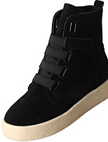 Недорогие -Для женщин Обувь Полиуретан Зима Удобная обувь Модная обувь Ботинки Круглый носок Ботинки Назначение Повседневные Черный Розовый