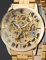 Недорогие -WINNER Муж. Нарядные часы Наручные часы Механические часы С автоподзаводом С гравировкой Нержавеющая сталь Группа Роскошь Винтаж На