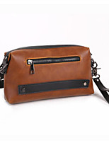 Women Bags PU Clutch Zipper for Casual All Season Brown