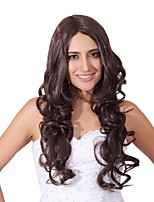 Women Synthetic Wig Capless Long Black Brown Natural Wigs Costume Wig