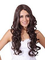Femme Perruque Synthétique Long Marron Noir Perruque Naturelle Perruque Déguisement