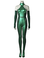 cheap -Super Heroes X-men Cosplay Cosplay Costume Costume Movie Cosplay Green Leotard/Onesie Gloves Socks Halloween Carnival Oktoberfest