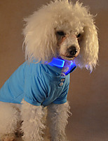 Dog T-shirts Dog Clothes Sparkle Casual/Daily Solid Pink Blue Green Red Yellow Costume For Pets