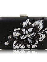 Women Bags All Season PU Evening Bag Beading Appliques Pearl Detailing Sequins for Event/Party Gold Black Silver