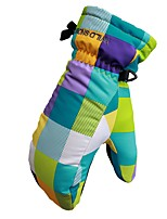 Недорогие -Лыжные перчатки Детские Полный палец Сохраняет тепло полиэстердля печати Пешеходный туризм На открытом воздухе Велосипедный спорт /