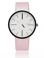 Women's Casual Watch Fashion Watch Wrist watch Chinese Quartz Large Dial Genuine Leather Band Casual Black White Brown Grey Pink