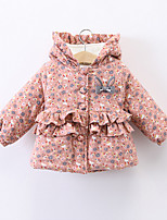 Girls' Solid Down & Cotton Padded,Cotton Long Sleeves Blushing Pink Gray Yellow