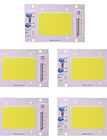 cheap -5 Pcs 50W LED COB Chip AC 110 - 130V Smart IC for DIY Spotlight Floodlight Warm / Cool White