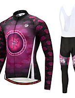 Cycling Jersey with Bib Tights Men's Long Sleeves Bike Bib Tights Tights Pants / Trousers Jersey Top Clothing Suits Quick Dry 3D Pad
